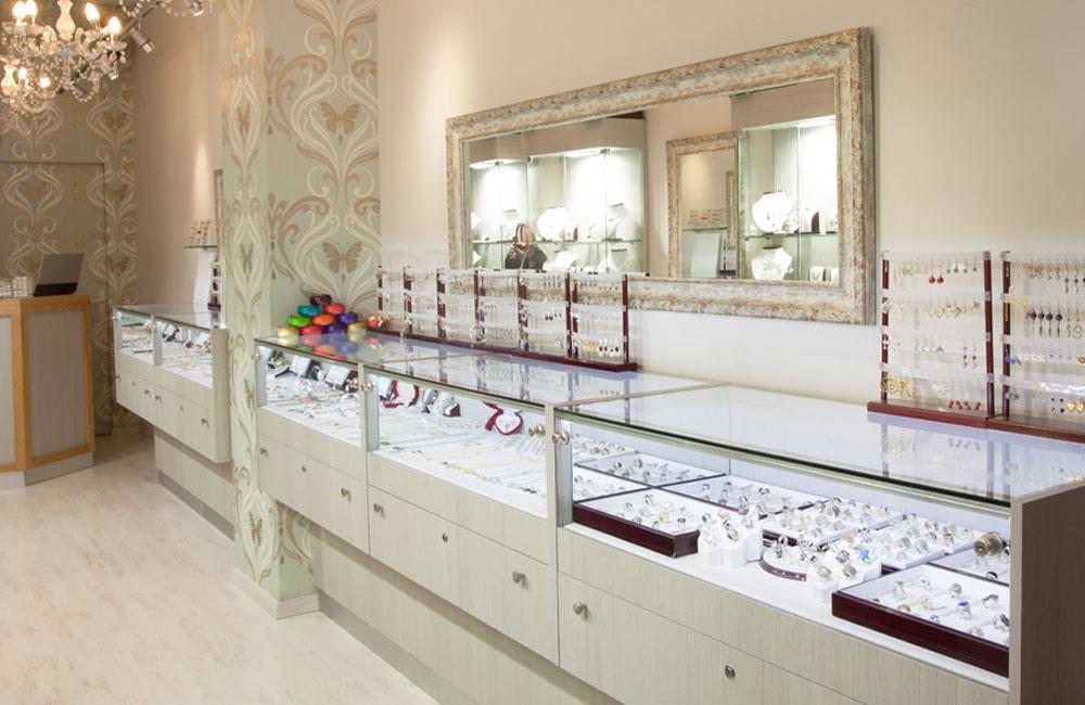 עיצוב חנויות תכשיטים, עיצוב פנים לחנות תכשיטים, מעצבת חנויות תכשיטים