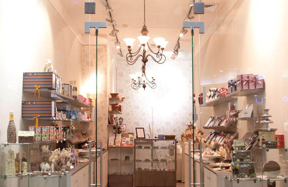 עיצוב חנויות ממתקים, עיצוב חנויות שוקולד